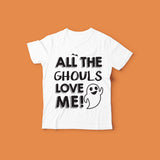 Kids Halloween Shirt Design | All The Ghouls Love Me