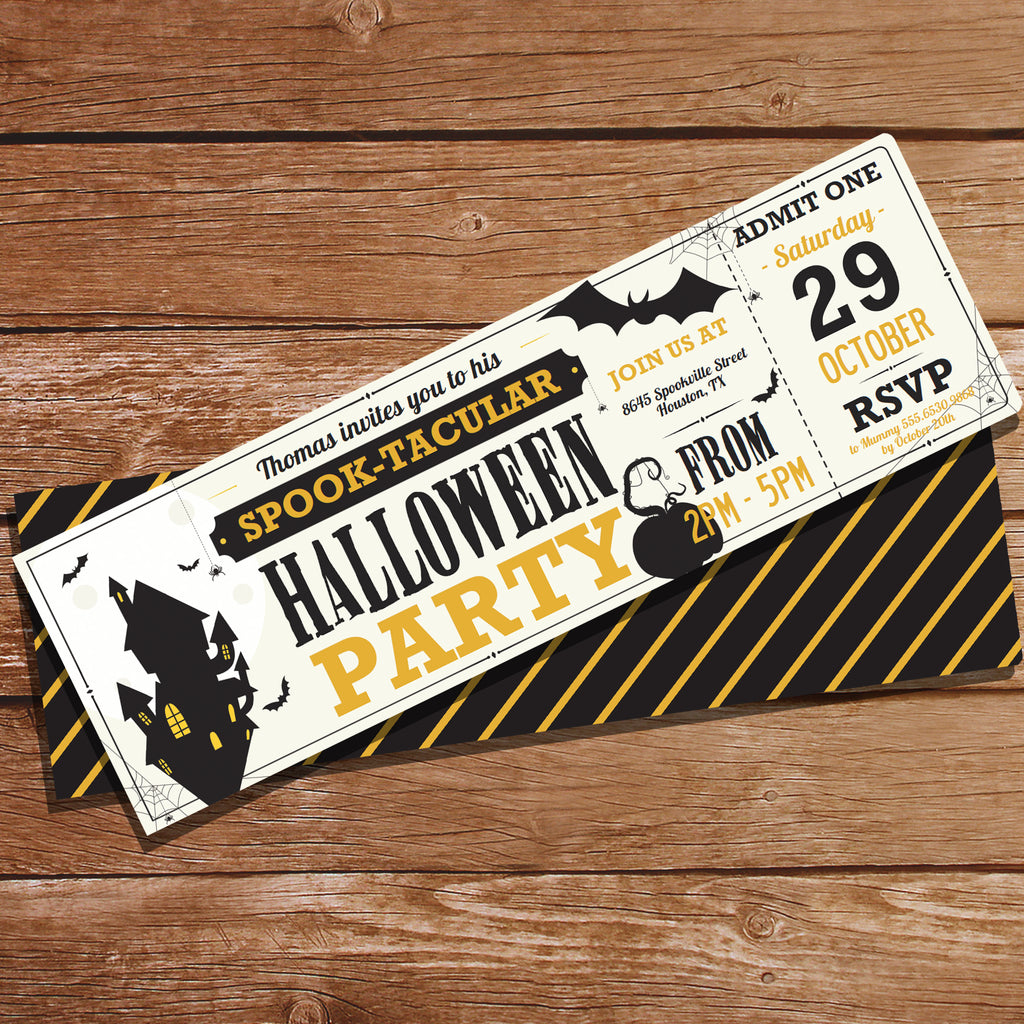 Halloween Party Ticket Invitation