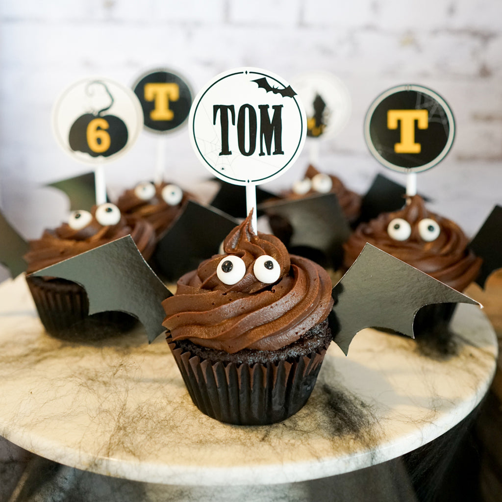 Halloween & Haunted House Cupcake Toppers and Batwings