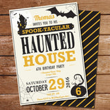 Haunted House Editable Party Invitation