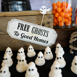 Halloween - Free Ghosts to good homes signs