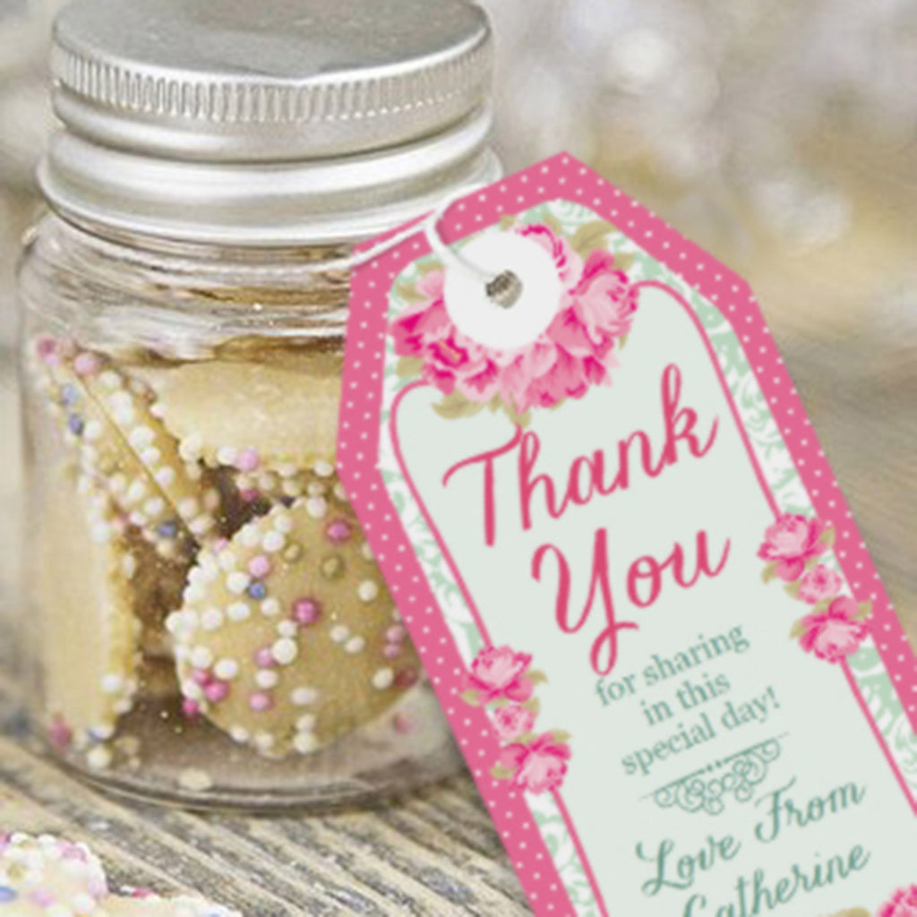 Floral High Tea Party Favor Tags