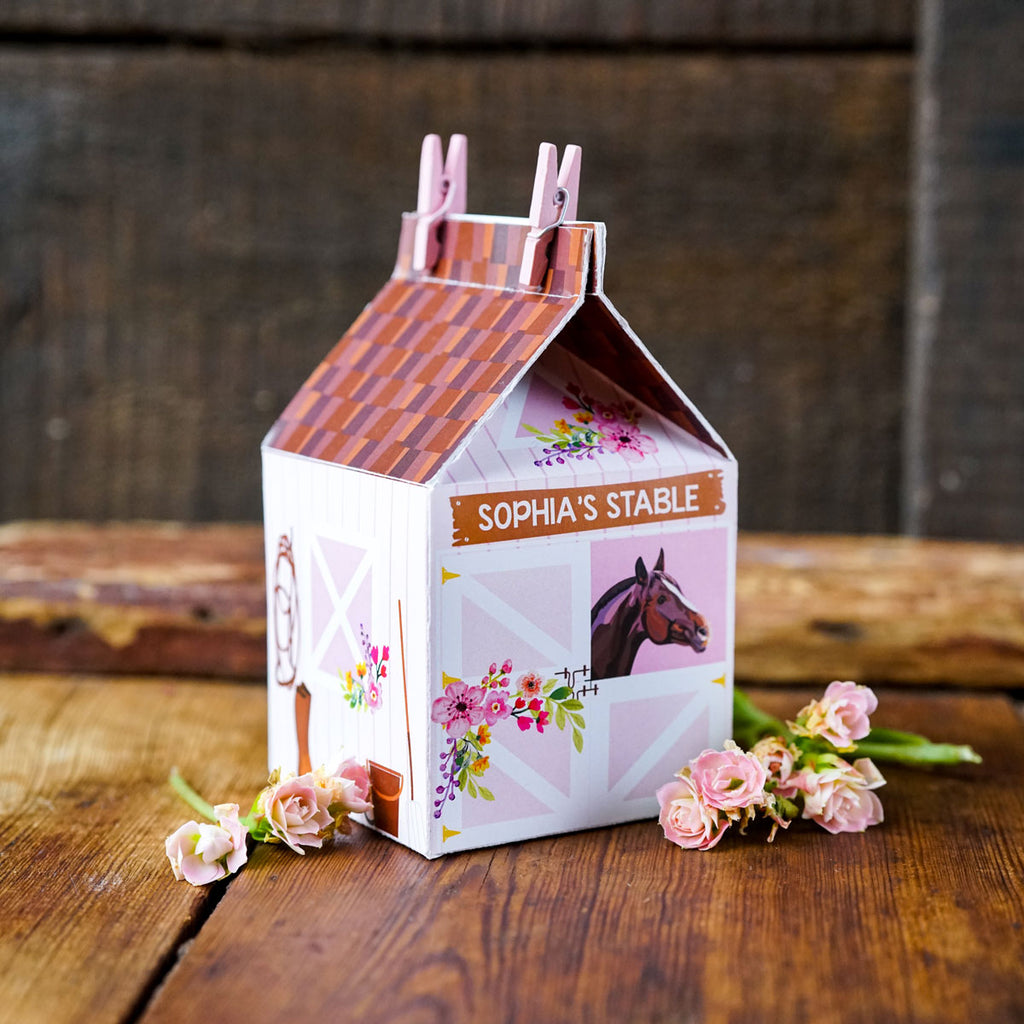 Horse Party Favor Box for crafting
