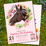 Horse Birthday Party Set for a Girl | Pony Party | Pink Floral Horse Party
