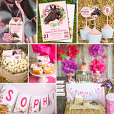 Horse Party Decor and Invitation Set