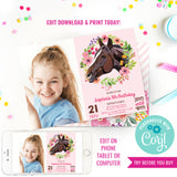 Horse Birthday Party Photo Invitation