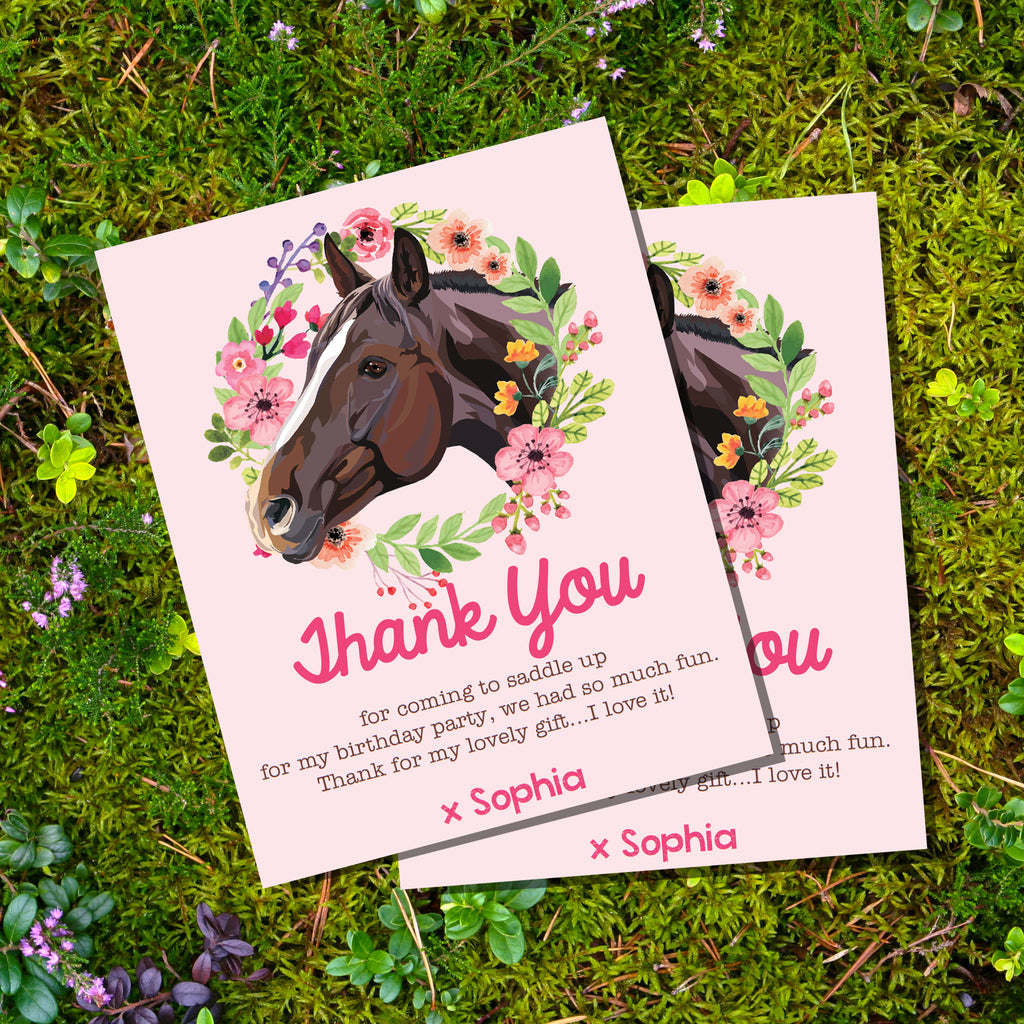 Horse or Pony Party Thank-You Card
