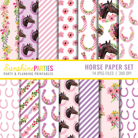 Horse Digital Paper Set
