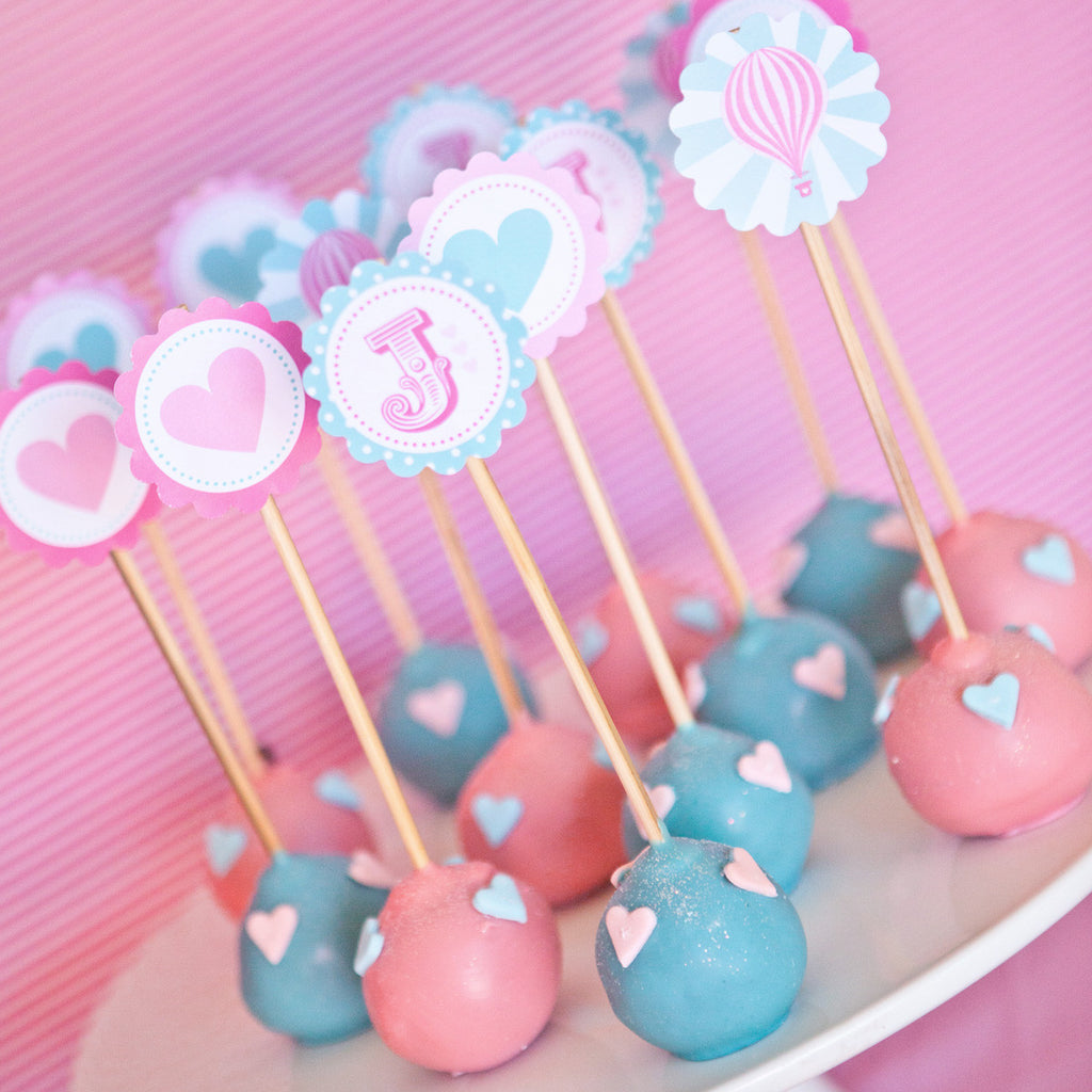 Hot Air Balloon Cupcake Toppers For A Girl