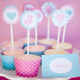 Hot Air Balloon Birthday Party Cupcake Toppers