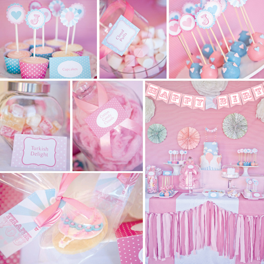 Hot Air Balloon Birthday Party Decorations For A Girl Sunshine Parties