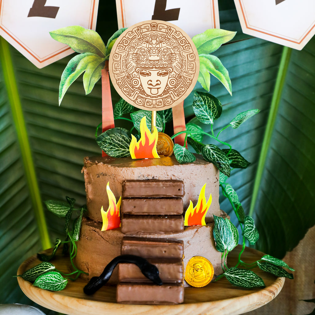Indiana Jones Explorer Party Cake Topper