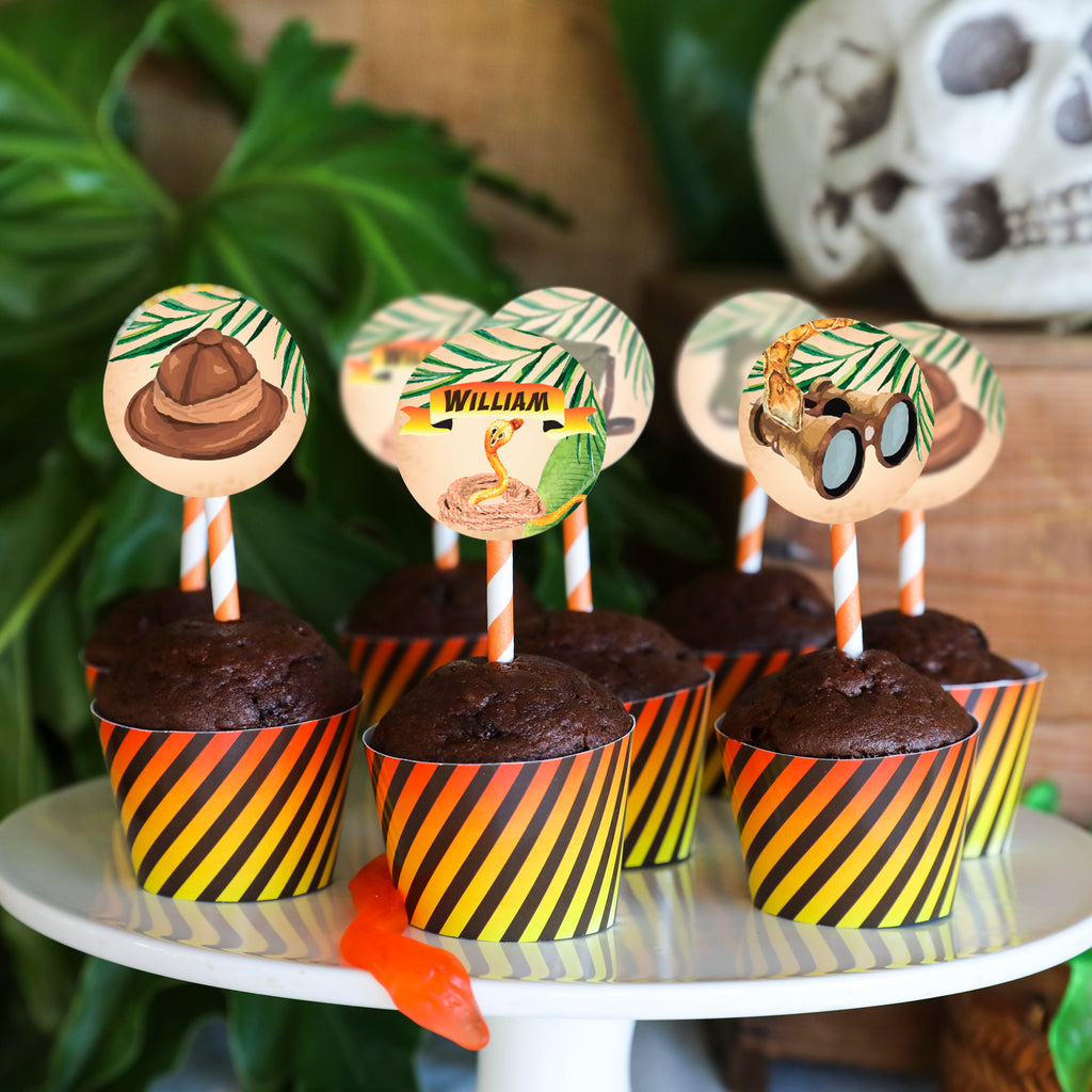 Explorer Party Cupcake Toppers | Adventure Party Cupcakes