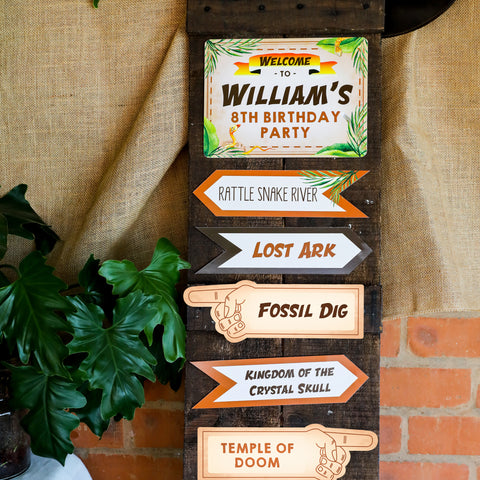 Explorer Party Directional Sign