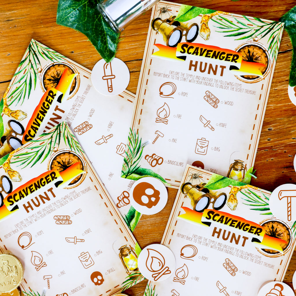 Adventure Party Printable Scavenger Hunt