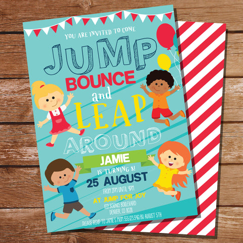 Jump party invitation