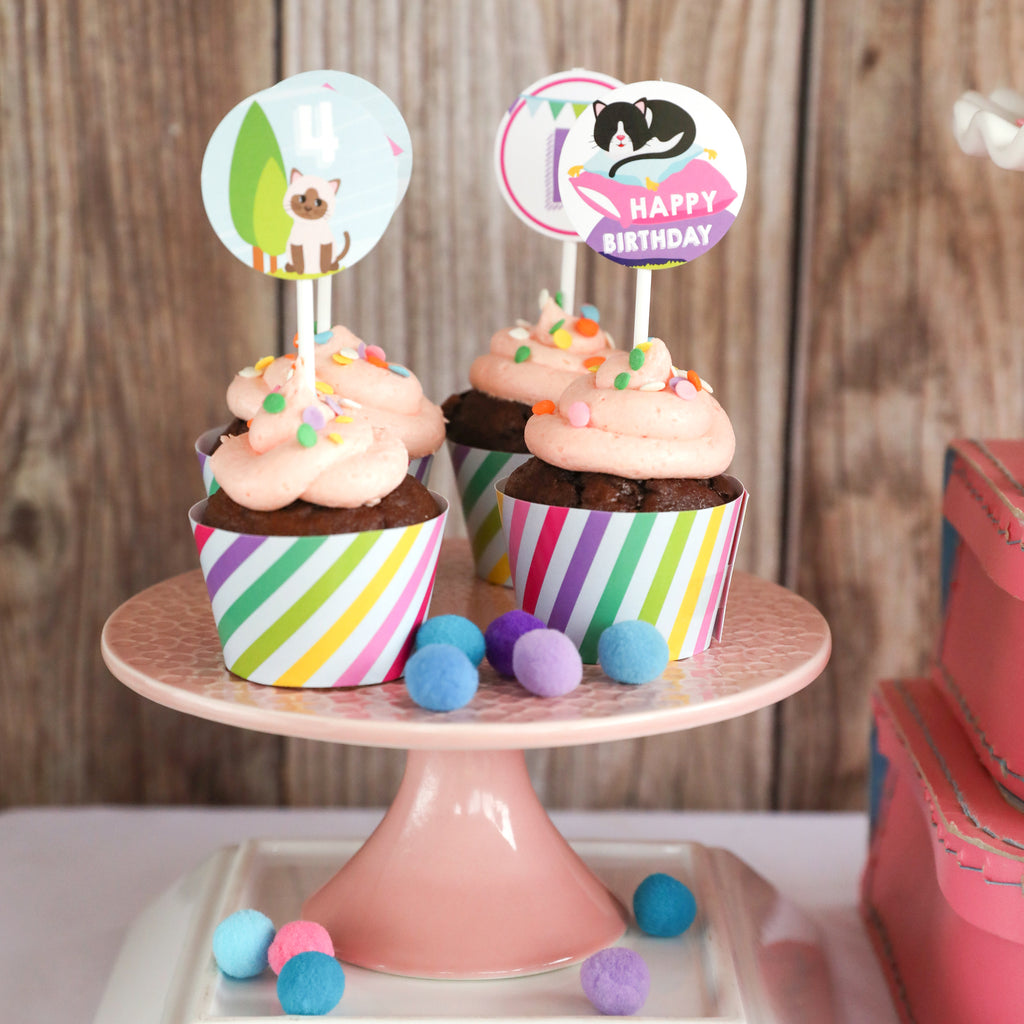 Kitty Cat Cupcake Toppers