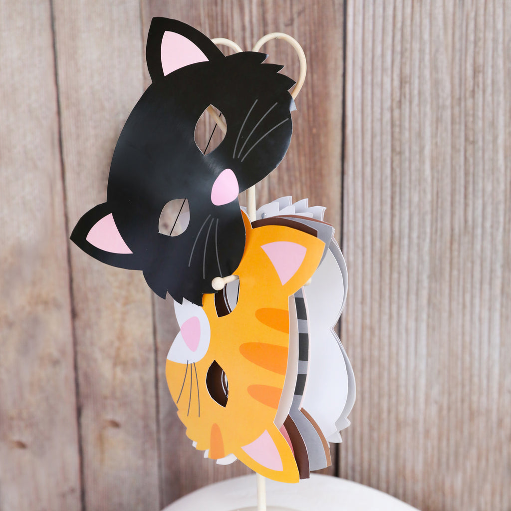 Cat Party Printable Masks