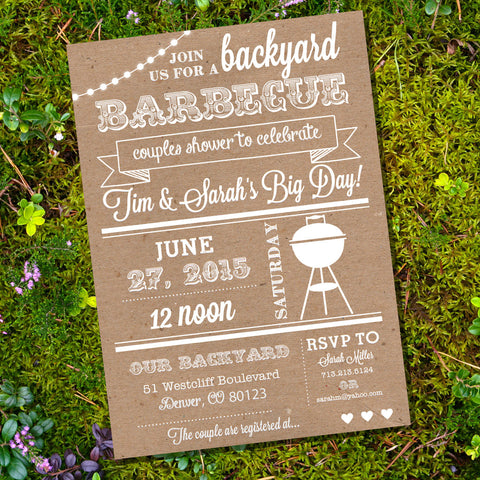 Kraft Couples Shower I Do BBQ Invitation