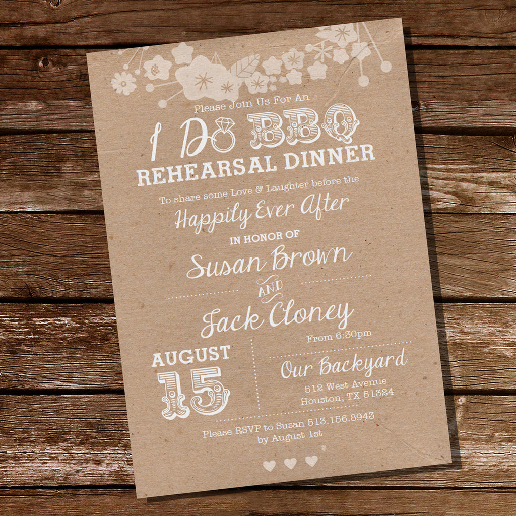 Kraft I Do BBQ Rehearsal Dinner Invitation