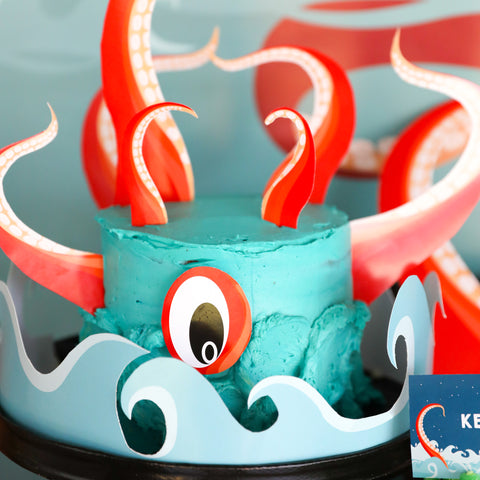 Kraken Birthday Cake Topper | Octopus Party Cake Topper | Sea Creature Cake Topper