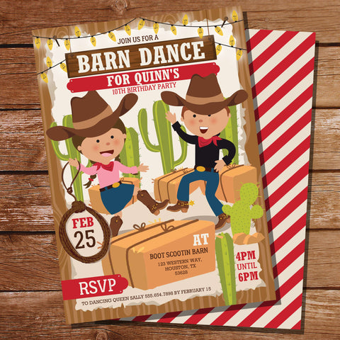Line Dancing Party Invitation
