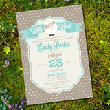 Little Lamb Baby Shower Invitation For a Boy or Girl