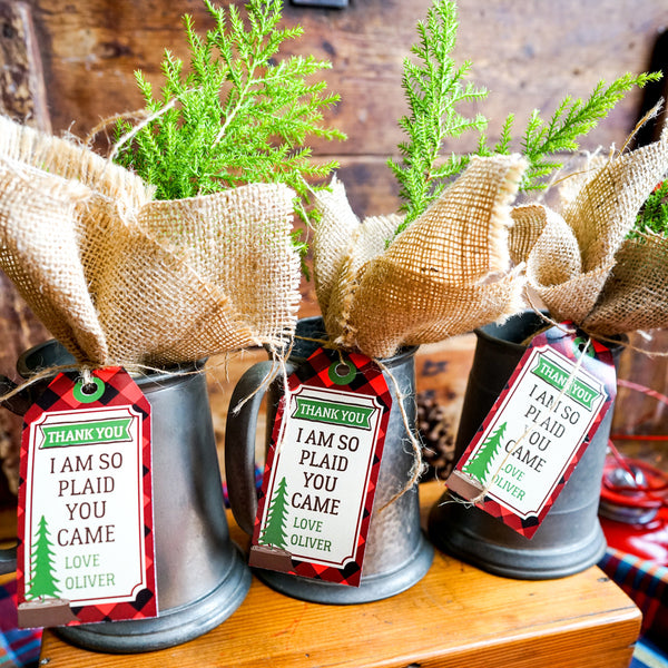 Little Lumberjack Party Favor Tags Woodland Forest Fun