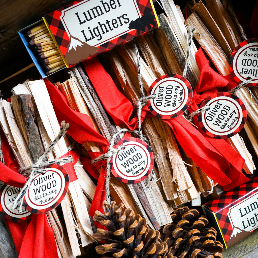 Little Lumberjack Party Favors | Wilderness Forest Party