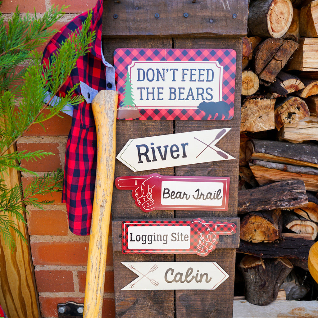 Little Lumberjack Party Directional Signage | Woodland Forest Fun
