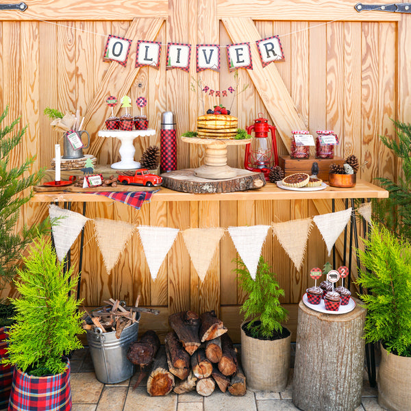 table decoration wedding lumberjack decorations set wilderness 7887