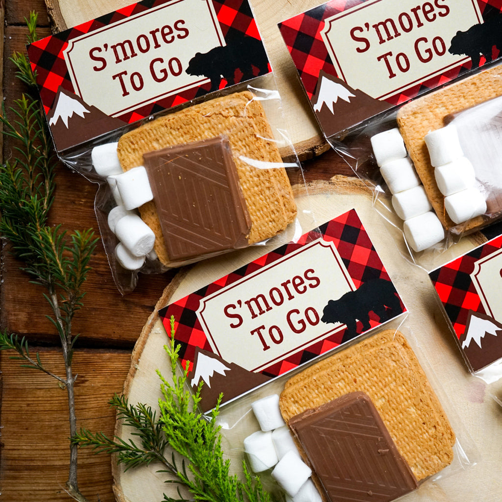 Lumberjack treat bag toppers