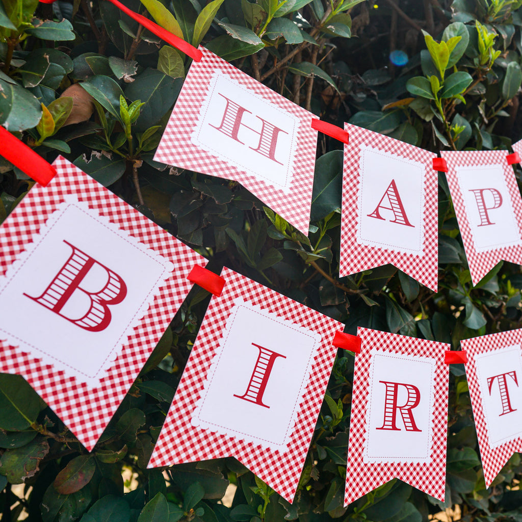 Little Red Riding Hood Happy Birthday Banner