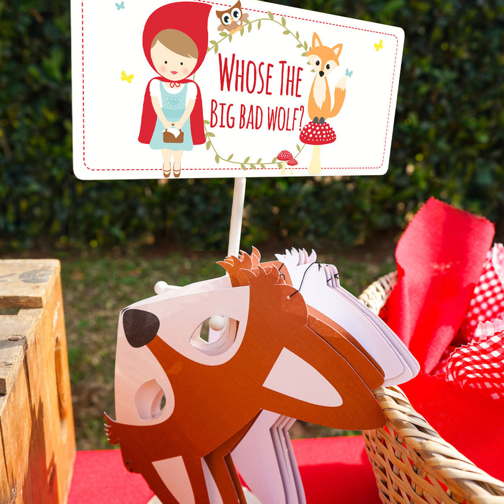 Little Red Riding Hood Party Game Signs