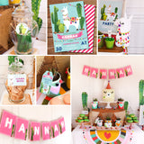 Llama Party Decorations | Alpaca Cactus Theme | Llama Party Decor
