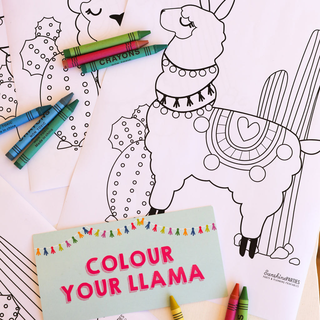 Color Your Llama Activity Page