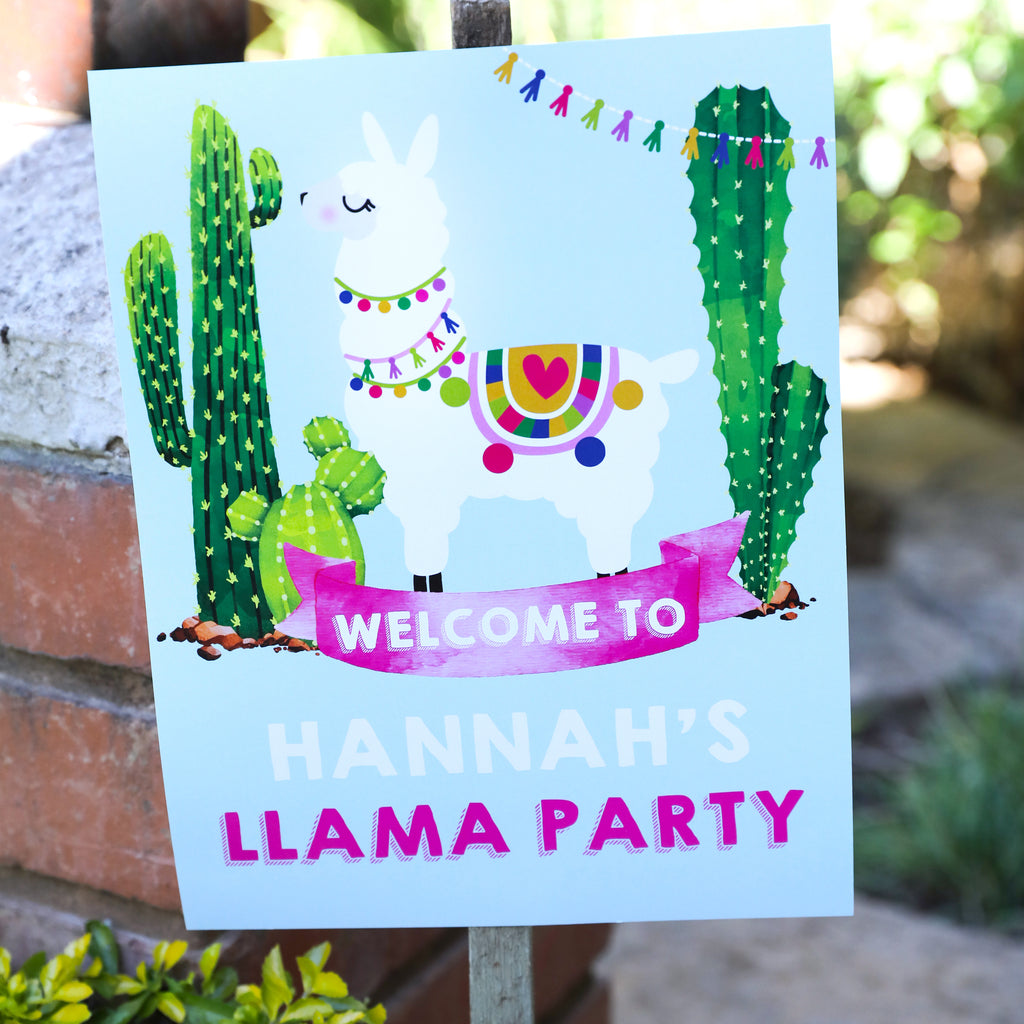 llama welcome sign