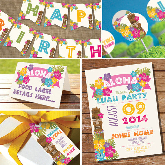 Luau Hawaiian Party Decorations | Tiki Beach Party Decor