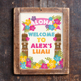 Luau Hawaiian Party Door Sign