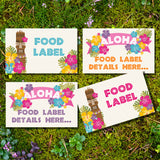 Luau Hawaiian Party Food Labels