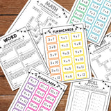 math multiplication flash cards