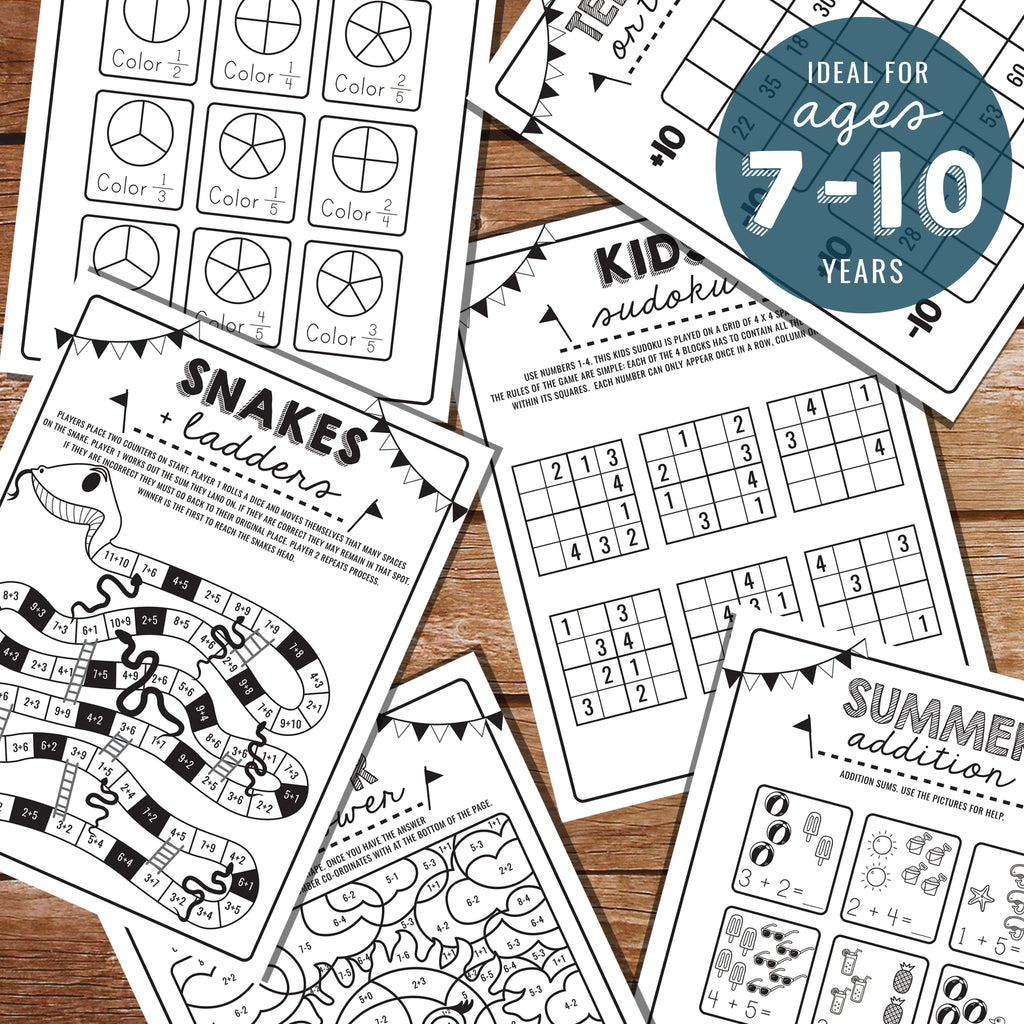 Printable Math Activity Sheets