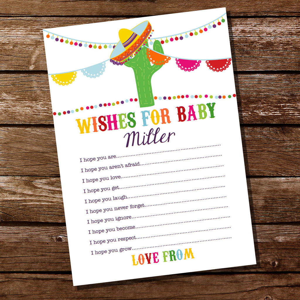 Mexican Fiesta Baby Shower Wishes For Baby Card