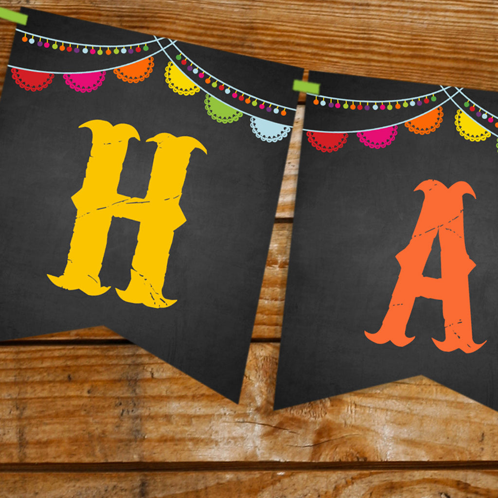 Mexican Fiesta Happy Birthday Banner