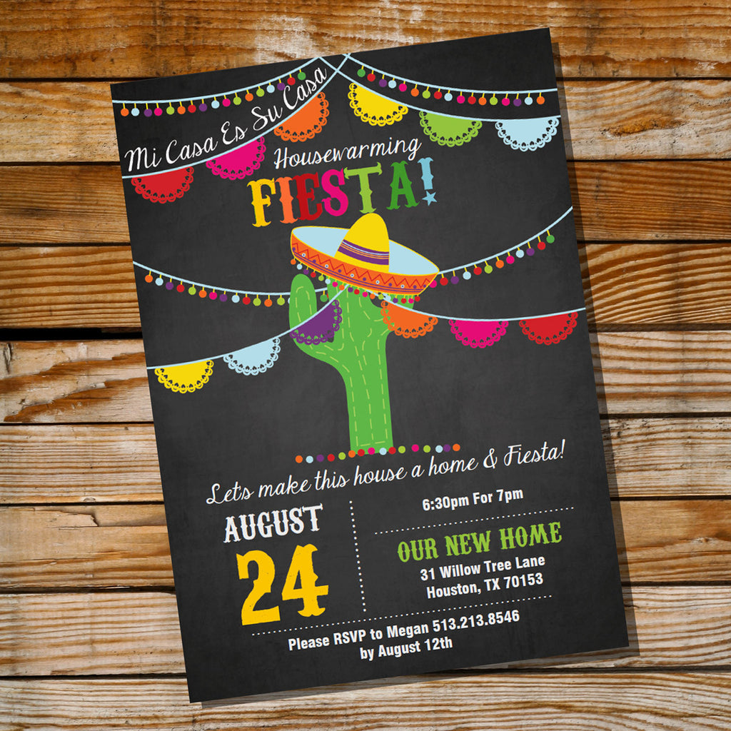 Mexican Fiesta Housewarming Party Invitation