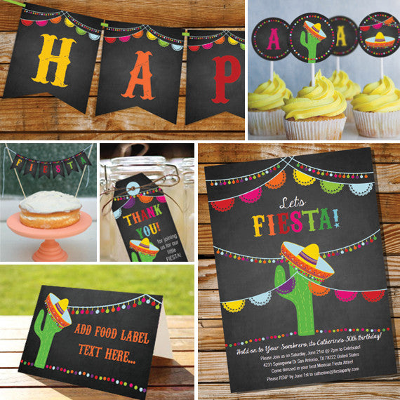Mexican Fiesta Printable Party Set