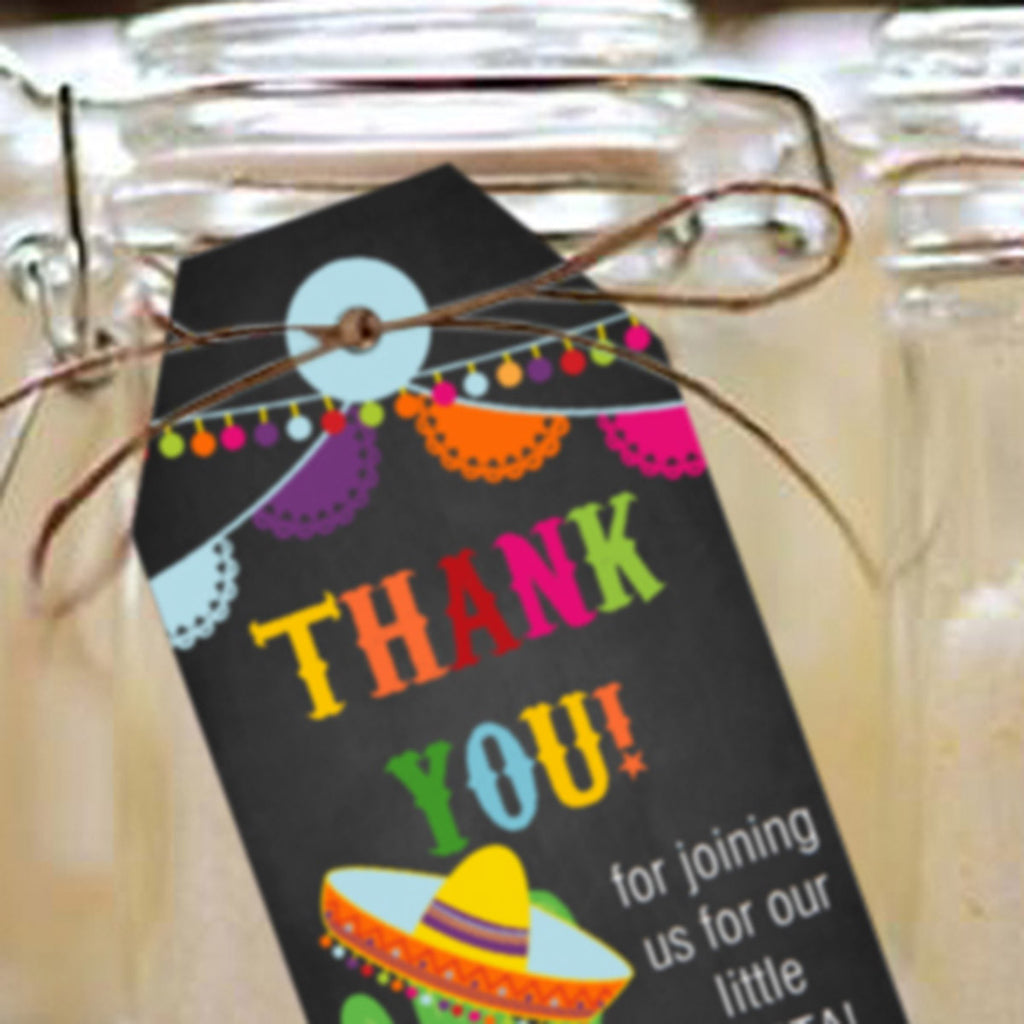 Mexican Fiesta Favor Tags