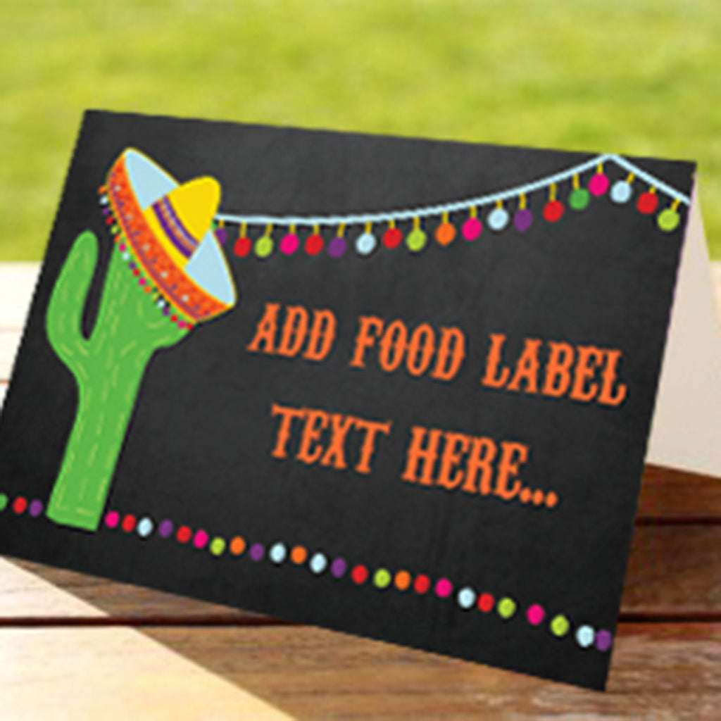 Mexican Fiesta Tent Cards | Food Labels | Buffet Cards