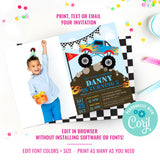 Monster Jam Photo Invitation