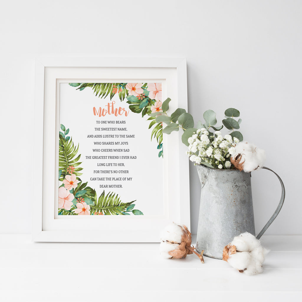 Mother's Day Poem poster